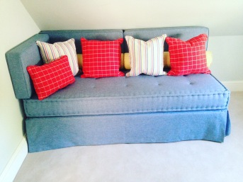 bespoke ottoman seating with french tufted mattress