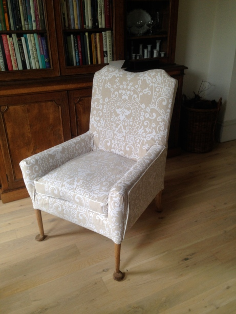bespoke armchair loose cover