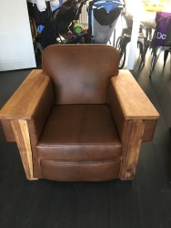 Leather chairs fully rebuilt and restored