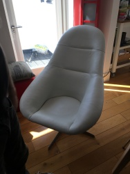 Up-cycled 60's swivel chair