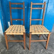 Leather webbed chairs