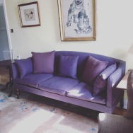 Fully restored Campaign sofa