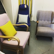 A selection of vintage chairs from our last sale