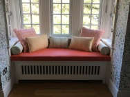 Widow seat and scatter cushion display