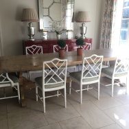 Chinoise dining chairs
